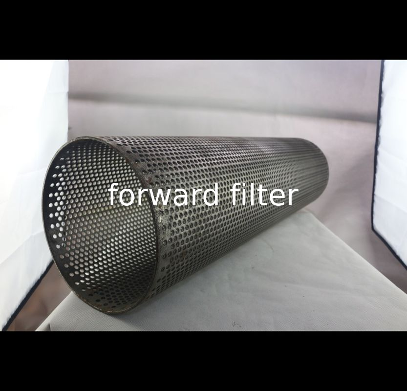 Mining Perforated Metal Pipe Semi - Finished Hole Pattern Stainless Steel