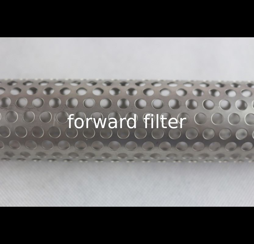 Custom Length Perforated Stainless Pipe , Chemical Perforated Aluminium Tube