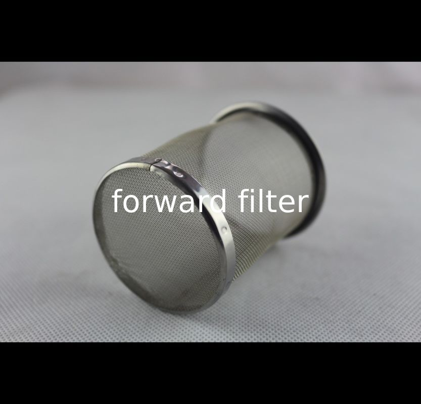 304 Stainless Steel Mesh Tube Filter Dutch Weave 0.3mm-4mm Customized Material